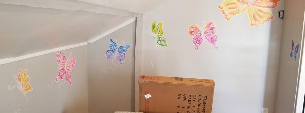 Mural for a little girls bedroom