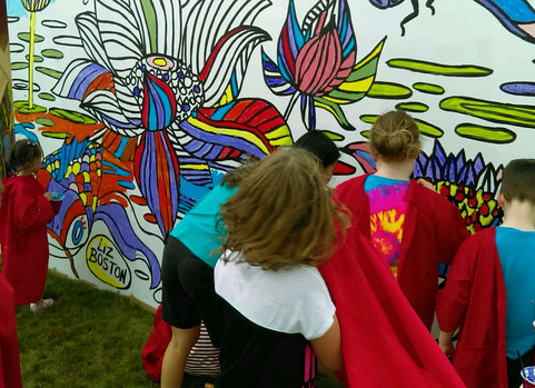 Interactive mural everyone can paint