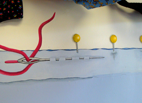 Mural for a kids sewing school