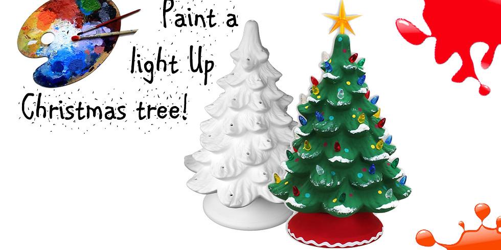 Paint a Light Up Christmas Tree