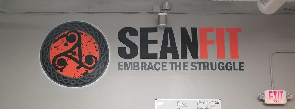 Business logo mural
