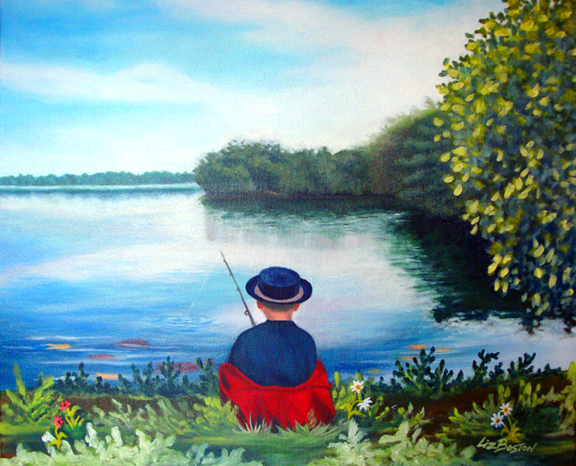 **** SOLD **** Fishing with Robbie
