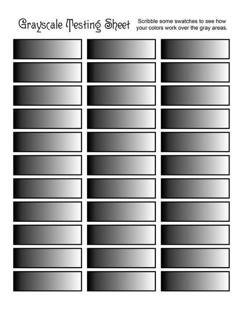 Grayscale Testing Sheet
