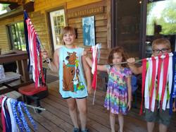 Made flags for the 4 wheeler parade
