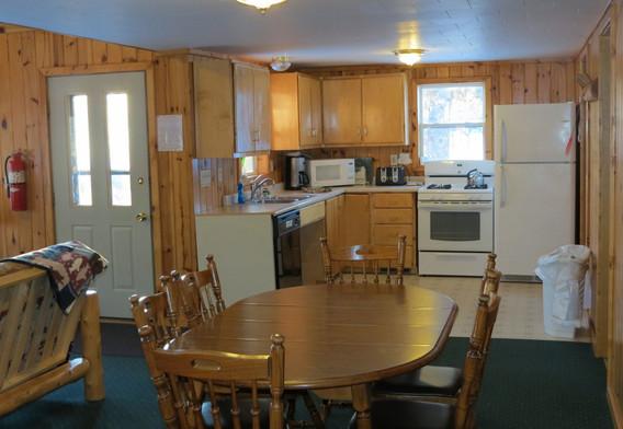 Walleye Retreat Cabin Kitchen