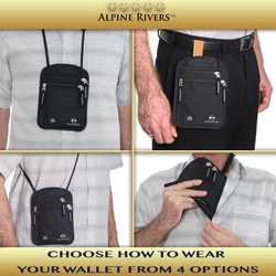 Alpine Rivers Premium Neck Wallet