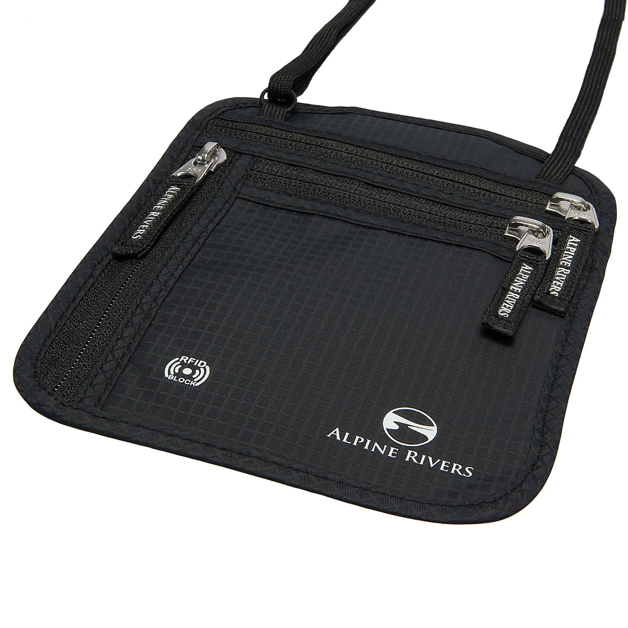 Alpine Rivers Premium Neck Wallet