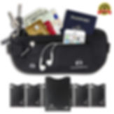 Alpine Rivers Premium Quality Money Belt RFID Blocking