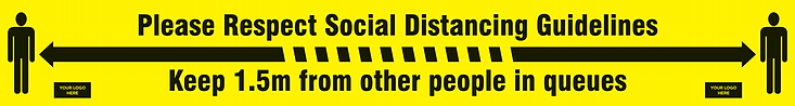 Covid19 1.5m Social Distancing Sticker