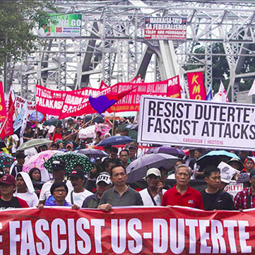 Philippines - Protests against martial law