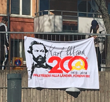 SWEDEN - Actions on the 200th birthday of Karl Marx