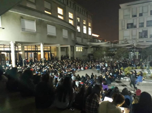 Occupied Uni outside