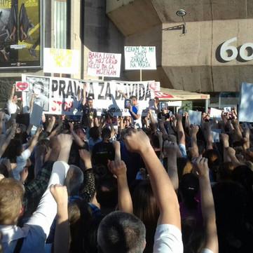 BOSNIA AND HERZEGOVINA - Hughe protests: Justice for David!