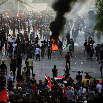IRAQ - Militant mass protest against the ruling system!