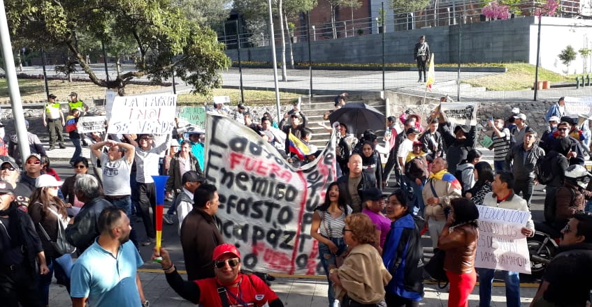 Protest in Guayaquil