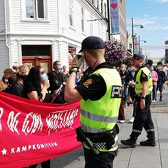 NORWAY - Successful action against fascists!