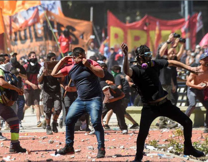 Clash at protest