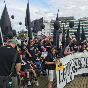 BULGARIA - Protests against disability laws