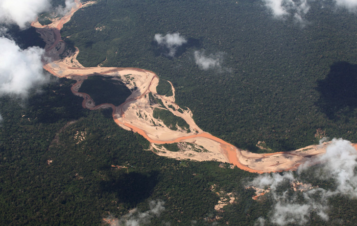 Polluted Amazonas River