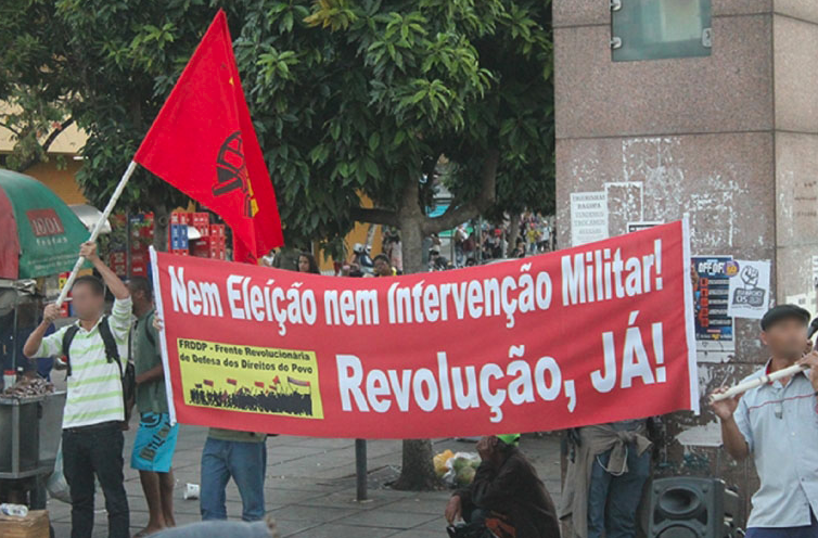 Banner - no to elections no to military