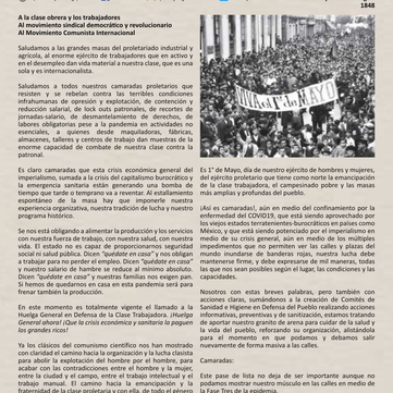 MEXICO - Manifesto First of May 2020