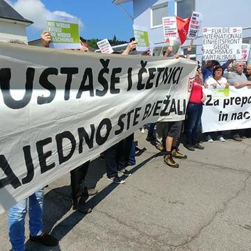 AUSTRIA- Protest against the fascist event at Pliberk/Bleiburg