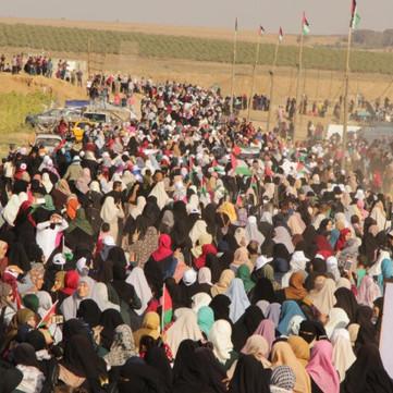 PALESTINE - Big women protest in Gaza