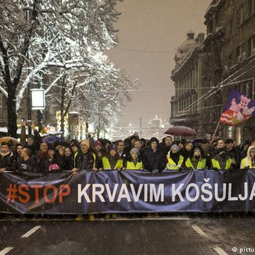 SERBIA - Mass protest unites all suppressed against Vučić-government