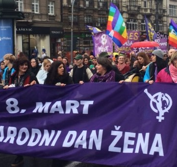 SERBIA - Protest on 8th of March in Belgrade