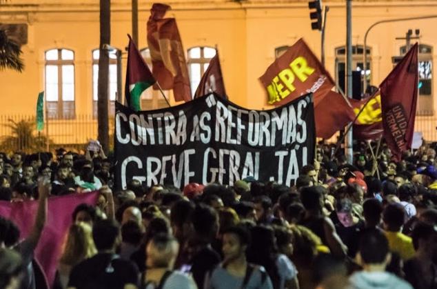 General strike Rio de Janeiro 2