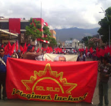 MEXICO - Sol Rojo protest