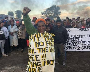 SOUTH AFRICA – Land occupation protests in Cape Town