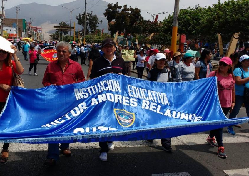 Many institutions joined the protest