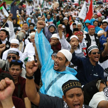 INDONESIA- Mass protests against Jerusalem decision