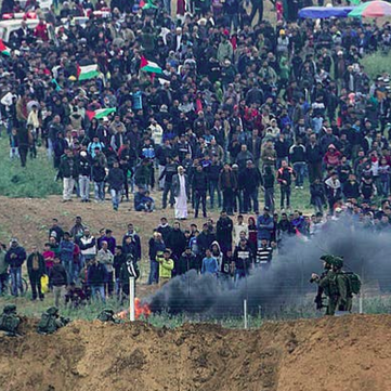 PALESTINE - Israeli forces attack Palestinians during Nakba protests