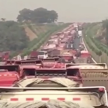 CHINA - Nationwide protest of truck drivers