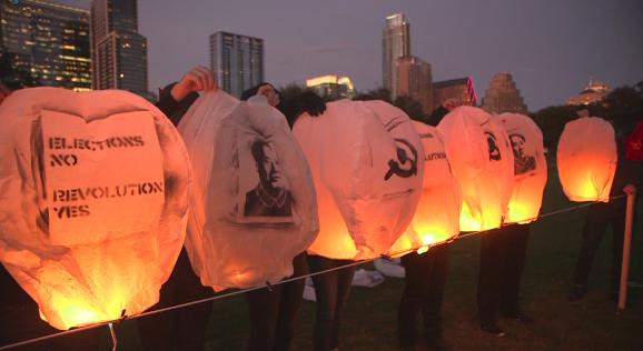 Floating Lanterns CLose up