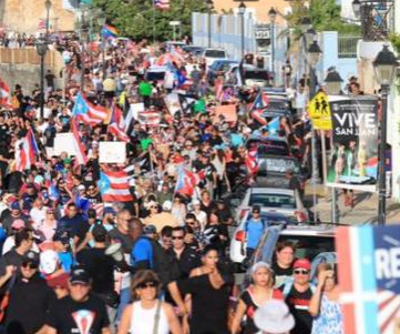 PUERTO RICO - Massive protests against governor