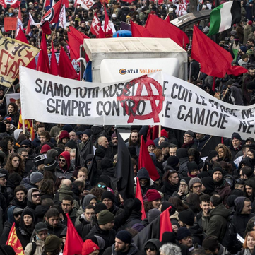 ITALY - Demonstration against racist attack