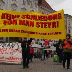 AUSTRIA - Demonstration against the closure of MAN!