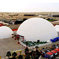 60m Geodesic Dome Tent for F1 Bahrain Gr