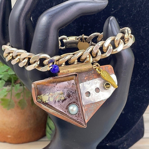 Adorned Crown assemblage steampunk design bracelet