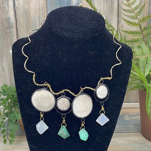 Green Take me to the disco chrysoprase necklace