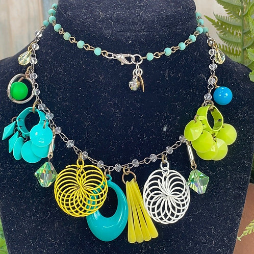 Adorned Crown assemblage mod baubles necklace