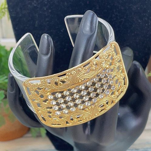 Adorned Crown acrylic rhinestone cuff bracelet