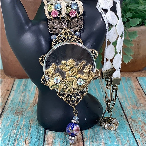 Sweet cherub sing a new song necklace