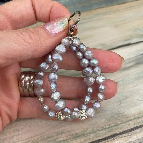 Adorned Crown assemblage lavender pearl earrings