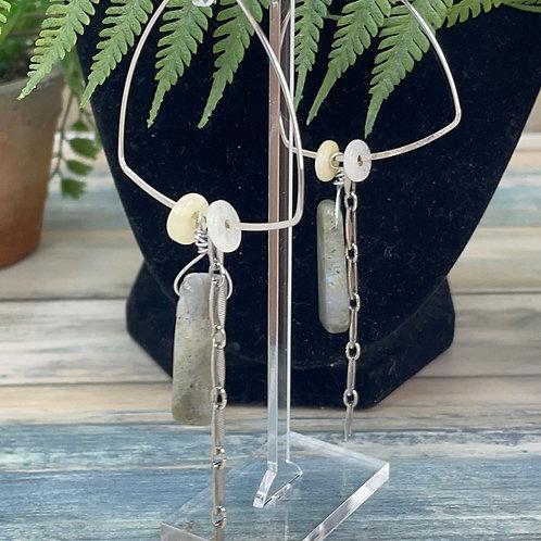 Adorned Crown assemblage labradorite earrings