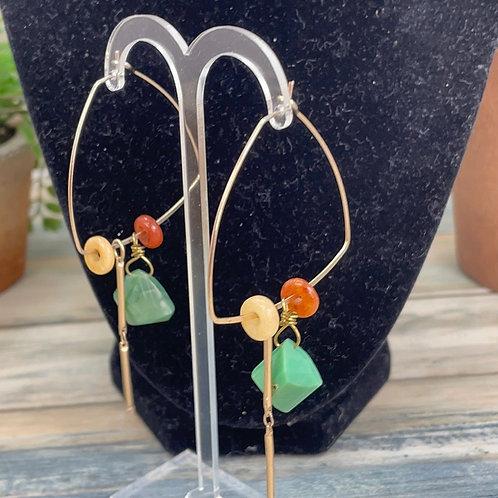 Adorned Crown assemblage chrysoprase earrings