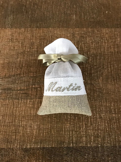 """""""2 lins"""" base lin naturel - broderie ficelle - ruban ficelle"""